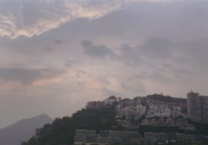 香港の夕日